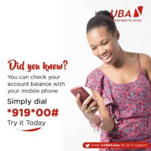 How to check your UBA account balance