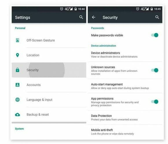 Install android apk