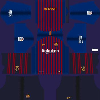 Barcelona 2019/2020 Home Kit Dream League Soccer