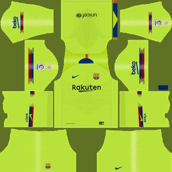 Barcelona Away Kit 2019/2020 Dream League Soccer DLS Kits