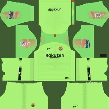 Dls 2020 Barcelona FC Goalkeeper Home Kit Dream league Soccer DLS-Kit