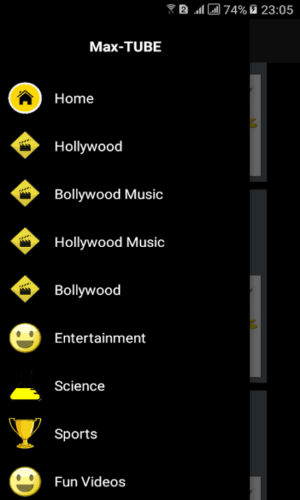 MaxTube Apk Categories