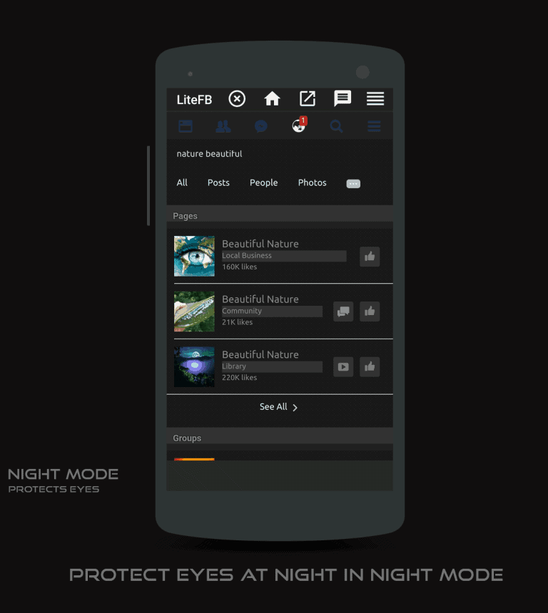 Facebook Lite Night Mode