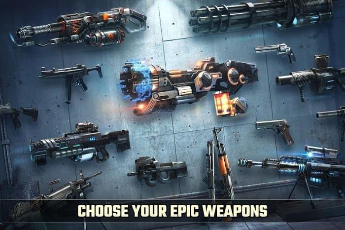 Dead target mod apk weapons