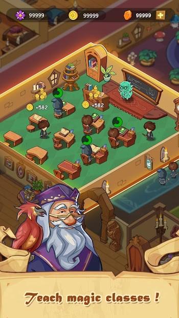idle magic school mod apk unlimited money free download